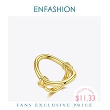 ENFASHION Oval Hollow Ring Gold Color Stainless Steel Curve Finger Rings For Women Fashion Jewelry Party Gifts Anillos R204038