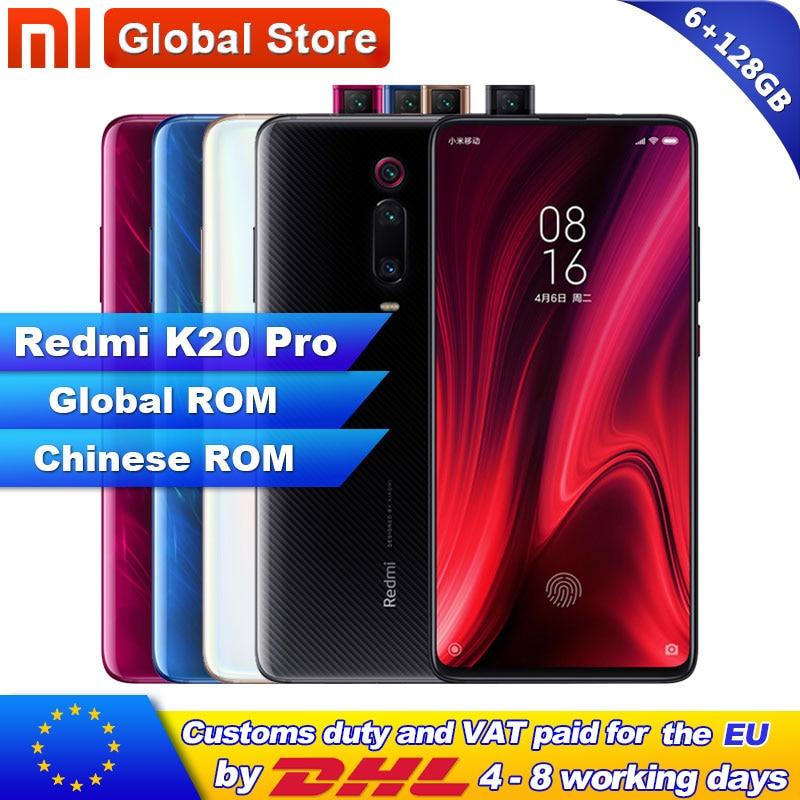 Global ROM Xiaomi Redmi K20 Pro 6GB 128GB Smartphone Snapdragon 855 Octa Core 4000mAh Pop-up Front 48MP Rear Camera AMOLED 6.39