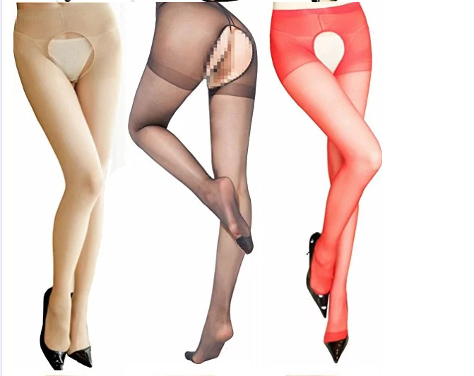 2019 New Arrival Sexy Lady Women Fashion Lace Open Crotch Soft Tights Elastic Pantyhose Stockings Black Cutout Stocking image