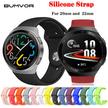 18mm 20mm 22mm Bracelet en Silicone pour Samsung Galaxy montre 42mm 46mm Active2 40mm 44mm engrenage S2 S3 Bracelet Bracelet Bracelet actif 2(China)