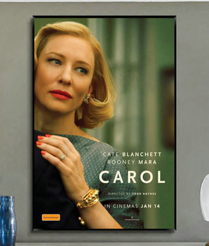 W379 Silk Fabric Poster Wall Art Decor Carol - Cate Blanchett Rooney Mara Love USA Movie Fashion Decoration Bright Christmas image