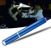 Mini Flashlight Self Defense Penlight Medical Torch Hard Light LED Bulbs AAA Battery Strobe Camping Q5 Waterproof Single File 5W(China)