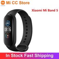 Xiaomi-pulsera inteligente Mi Band 5, accesorio deportivo con Pantalla AMOLED de 1,1 pulgadas, Monitor de ritmo cardíaco, 4 colores