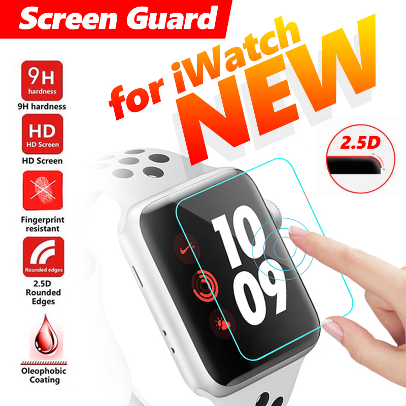 Glass Screen For Apple Watch 1 2 3 4 Screen Guard Protective Tempered Glass Smart Watch For IWatch Glass Protector Film 38 42 Mm