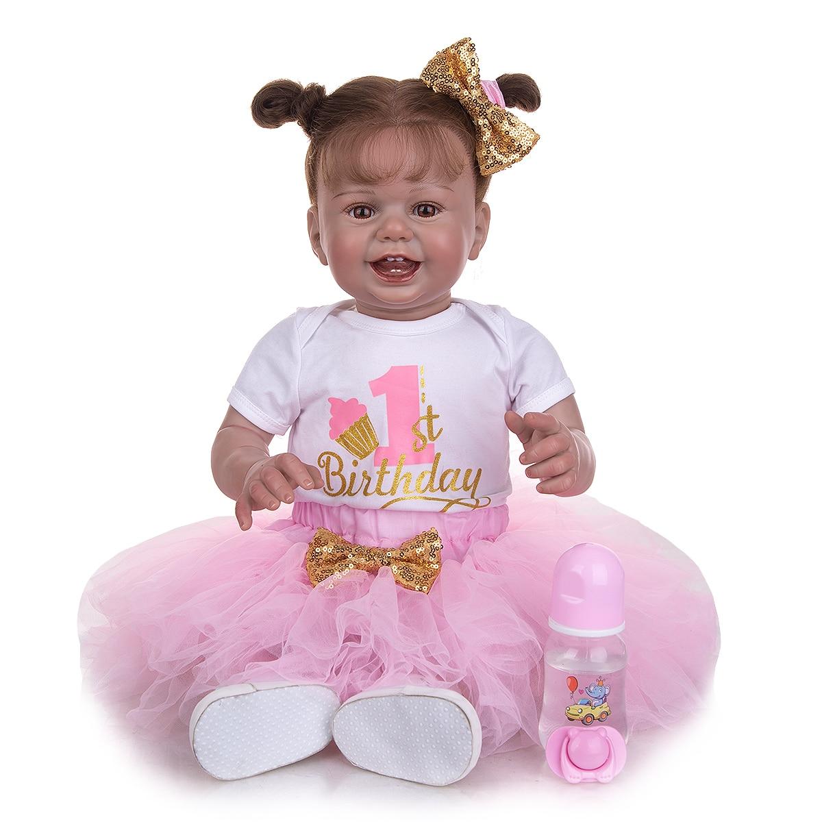 27 zoll Smulation Baby Reborn Puppen Schönen Weichen Tuch Körper Babys Puppe Spielzeug Für Kinder Geburtstag