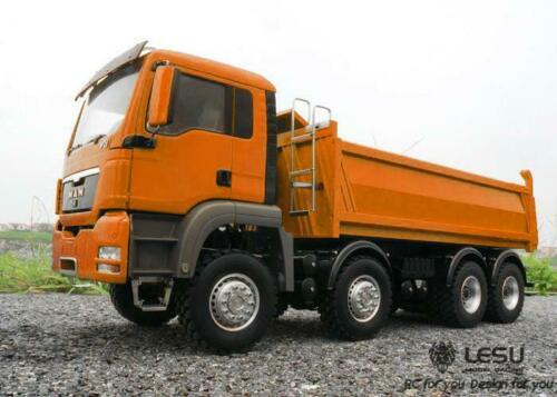 LESU MAN 8*8 RC camion benne hydraulique modèle moteur ESC Servo peinture voiture TH15224
