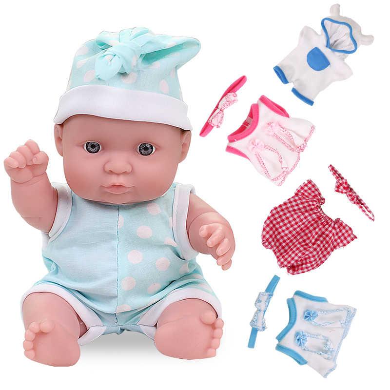 8 Polegada bebe reborn boneca brinquedos completo boby silicone vinil lifelike flexível macio de corpo inteiro realista bonecas do bebê vestido de brinquedo para meninas