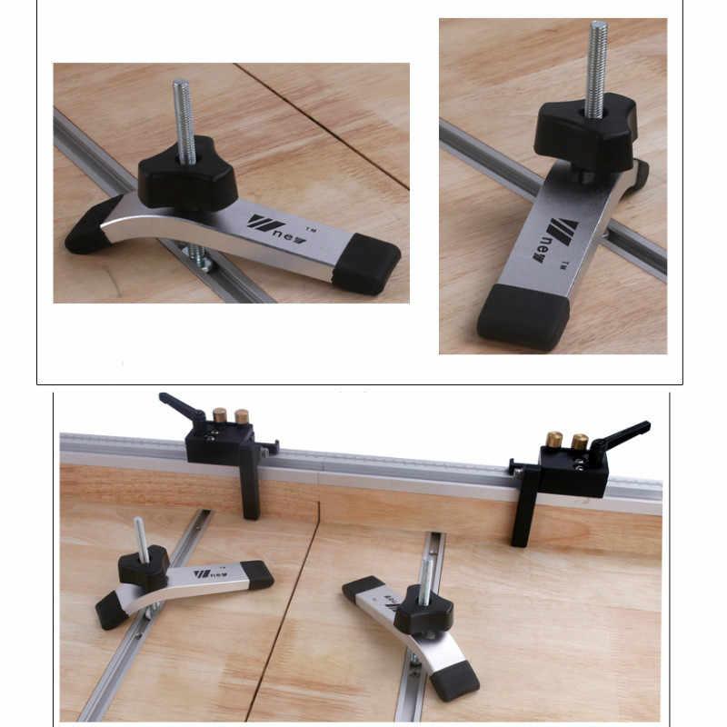 Do obróbki drewna T-slot slajdów tor ze stopu Aluminium ze stopu Aluminium T-śledzi prowadnica ukośna dla piła do obróbki drewna/tabeli routera stół warsztatowy typ narzędzia-19