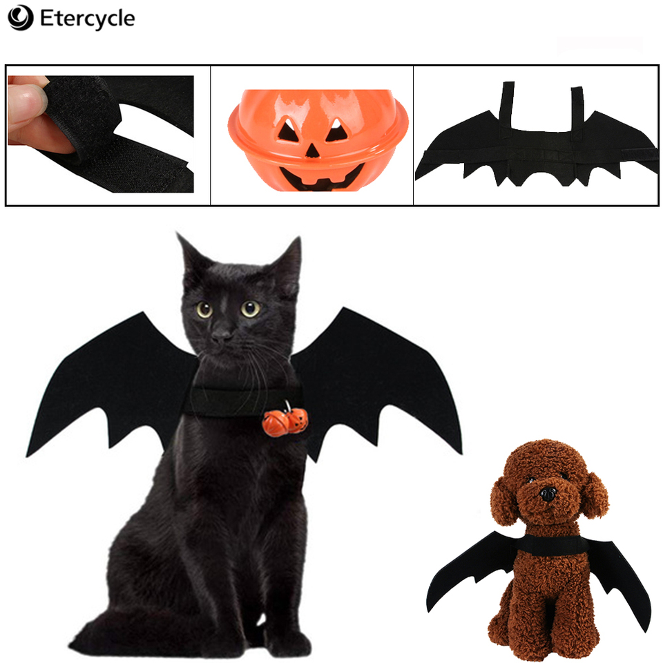 Halloween Pet Costume Decorations Pet Cat Bat Wings Halloween Pet toy Cute props Small pet Dog Cat Halloween Decorations