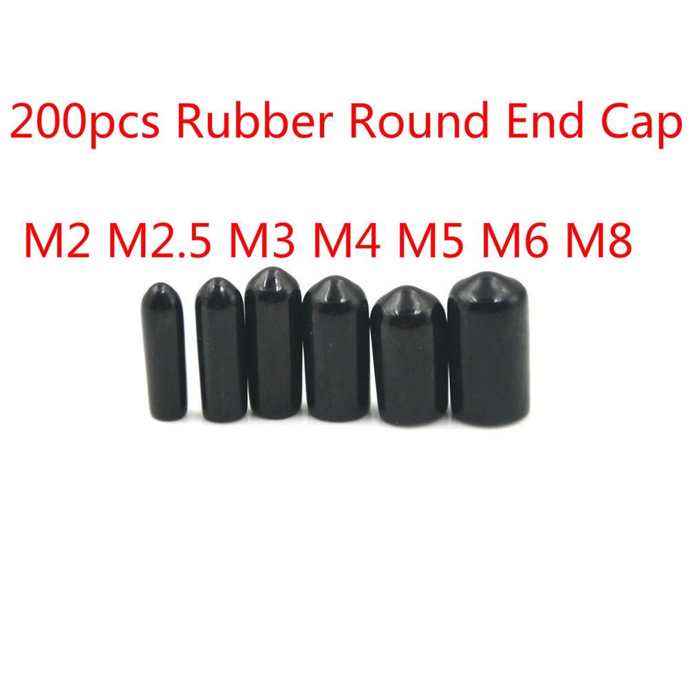 100pcs Rubber End Caps 10mm ID Round Cover Cap Flexible Thread Protectors Red