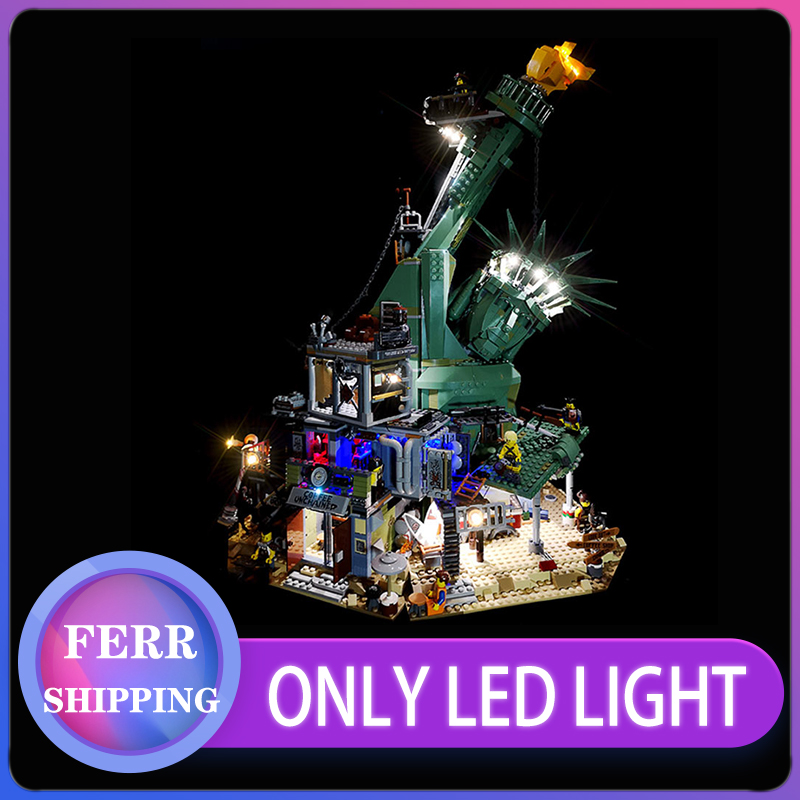 Led light for 45014 Movie Serie The <font><b>70840</b></font> APOCALYPSEBURG Set Building Blocks Bricks Kid Toys Birthday Christmas Gift(only light) image