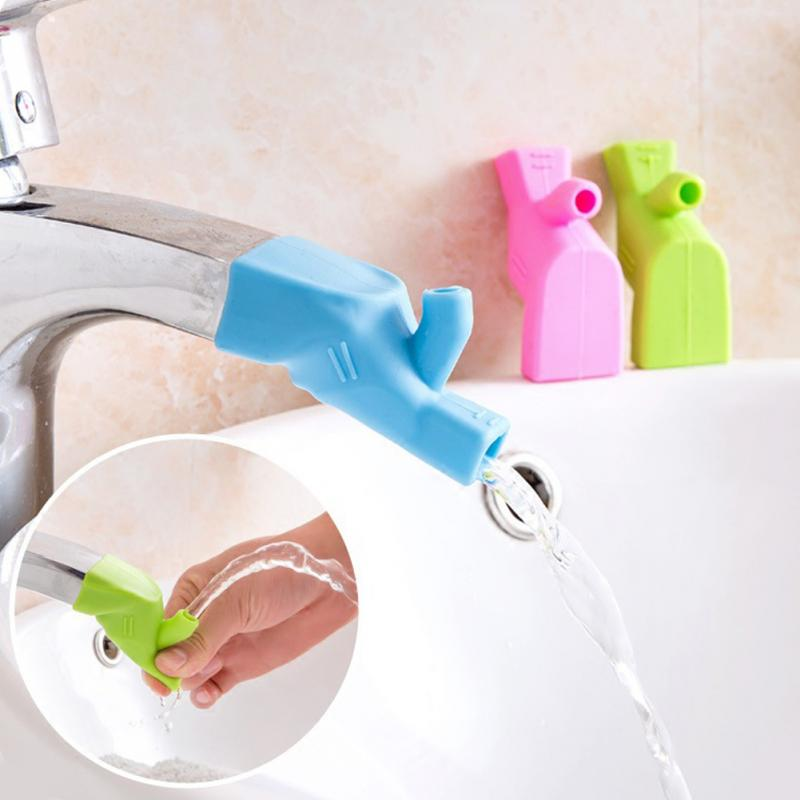 7.5*3.5cm Food-grade Silicone Tap Kitchen Home Water Faucet Extender For Kids Bathroom Soft Silicone Faucet Extender #63