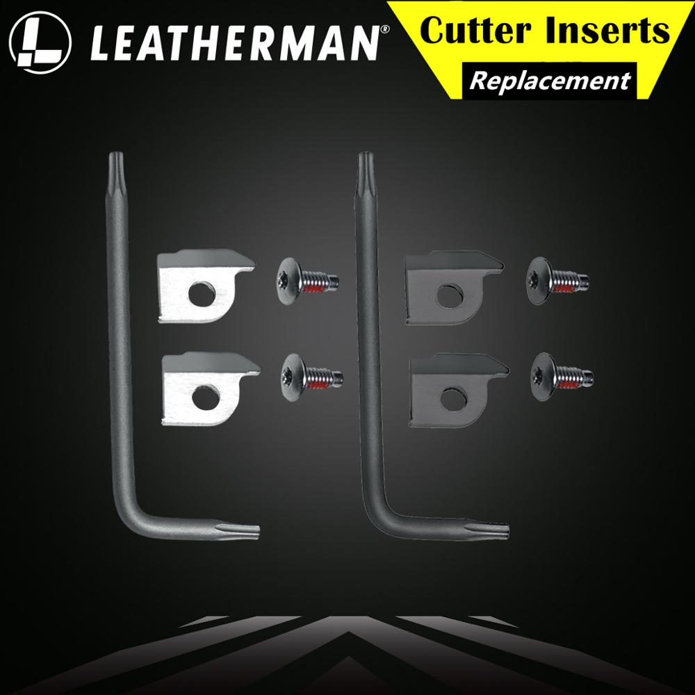 LEATHERMAN 930350/55 Multi-Tool Replacement Wire/Hard-Wire Cutter Inserts, Silver/Black