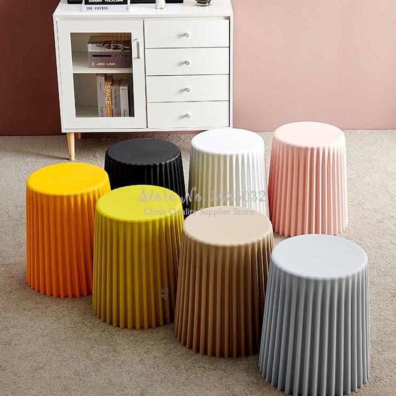 Розовый пластиковый журнальный столик с морщинами, столик для гостиной, прикроватный столик цвета макарун, круглый стол, креативный стул в форме торта, домашний декор| |   | АлиЭкспресс - Ваш красивый дом
