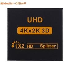 4K HDMI разветвитель 1080p видео HDMI переключатель коммутатор 1x2 двойной дисплей для HD TV