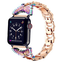 Correa per Apple Watch serie se 5 4 6 cinturino 40mm 44mm cinturino cinturino donna per iwatch 3 38mm 42mm cinturino bling cinturini