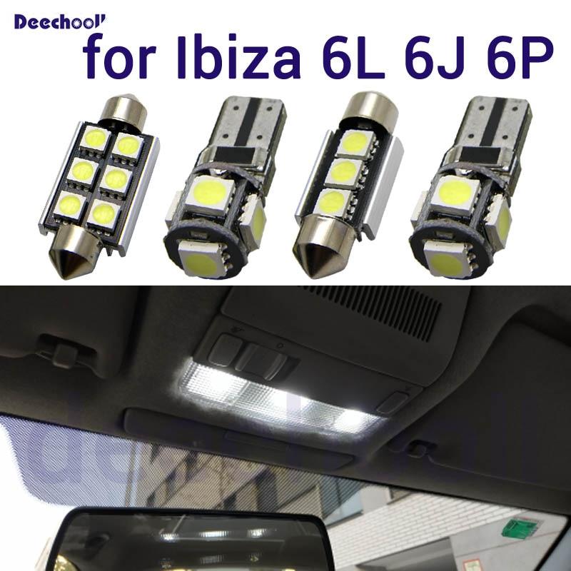 5-PC INTERIOR MAP LIGHT KIT WHITE LED VANITY FOR Skoda Fabia Octavia VRS TDI