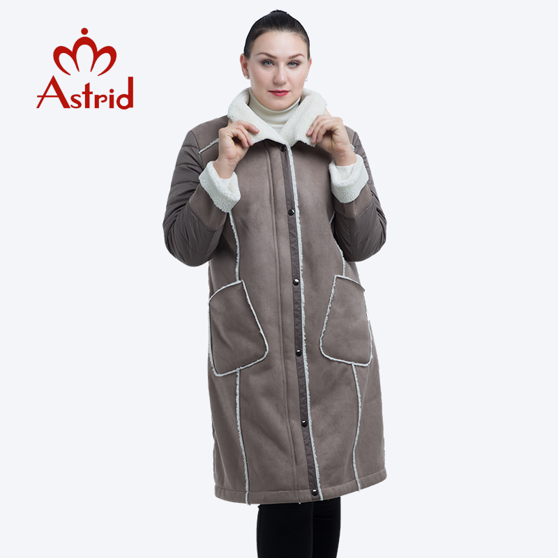 2019 Astrid New Winter Jacket Women Plus Size Jacket Parka Solid Leather Clothes Women Winter Coat AM-2082