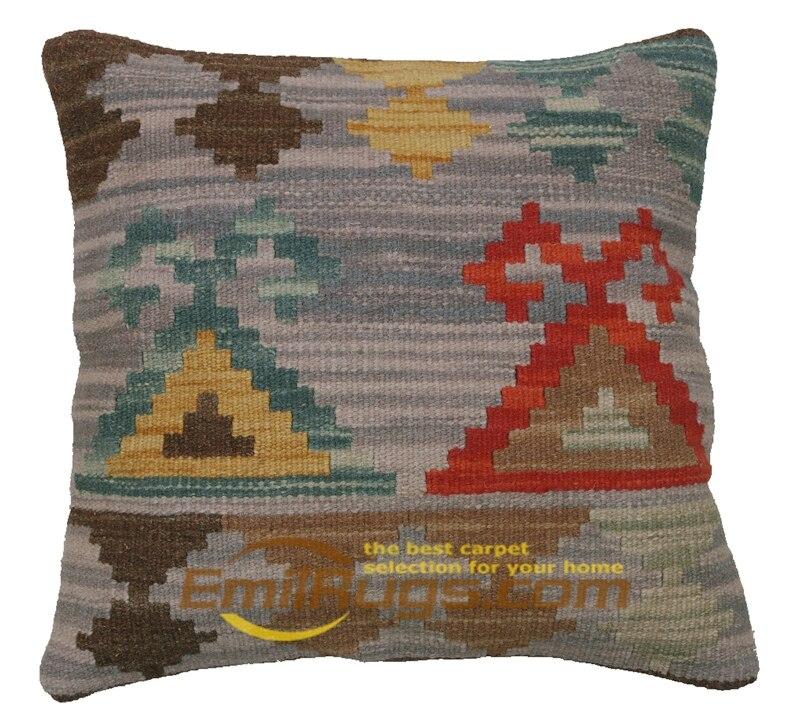 Laine Kilim oreiller couvre comme housse géométrie ménage ornement canapé coussin pour chaise de bureau durabilité 4044 gc131yg4