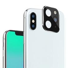 Металлический алюминиевый чехол для объектива камеры, Сменный Чехол для iPhone X XS MAX, Сменный Чехол для Apple iPhone 11