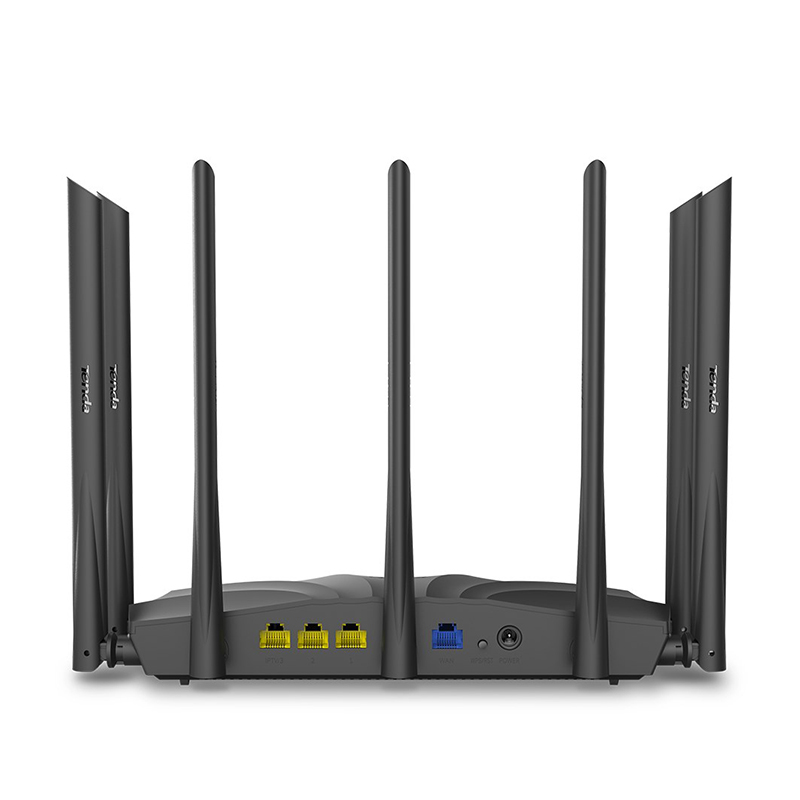 Tenda AC23 AC2100 Router Gigabit 2.4G 5.0GHz Dual-Band 2033Mbps Wireless Router Wifi Repeater with 7 High Gain Antennas Wider