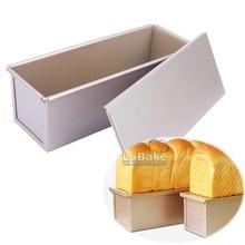 Антипригарный 300 г прямоугольник carbone стальной контейнер для тостов формы с крышкой Прямоугольная форма оловянные формы DIY печь инструменты для выпечки