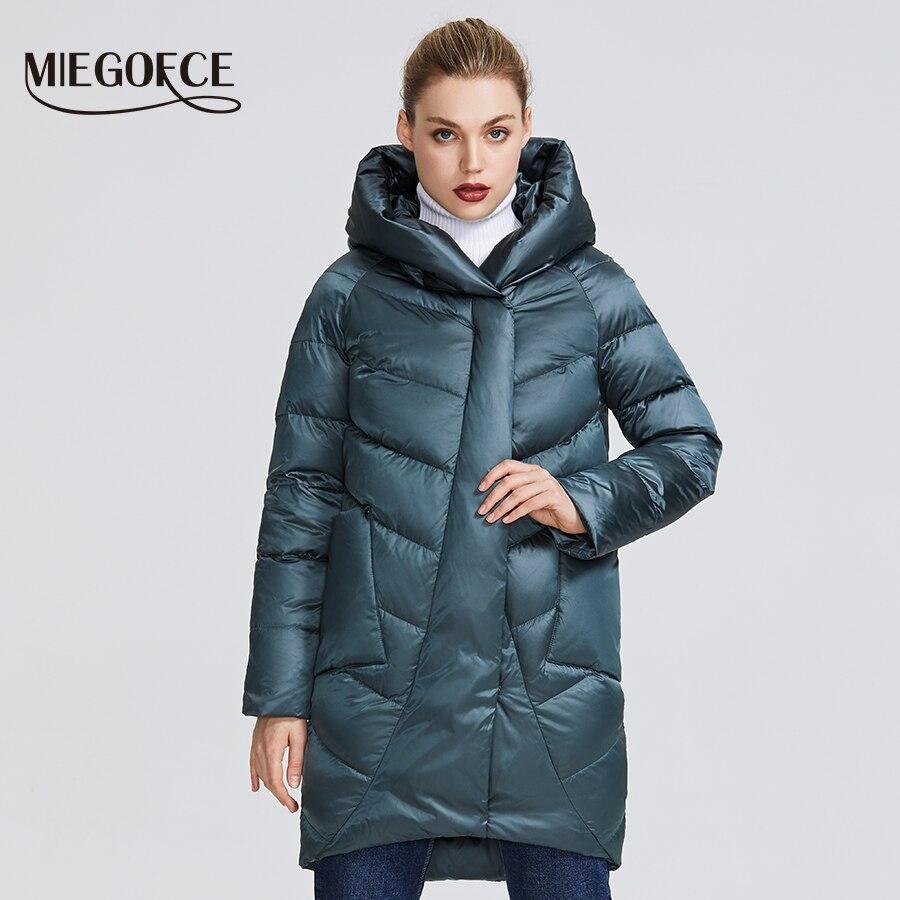 MIEGOFCE 2019 冬のジャケットの女性のコレクション暖かいジャケット奇抜なデザインと色の冬のコートで提供魅力と優雅さ  グループ上の レディース衣服 からの パーカー の中 1