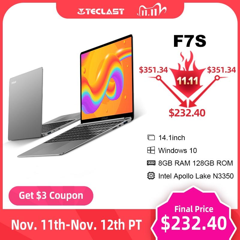 "Newest Laptop Teclast F7S 14.1"" 1920x1080 IPS Notebook 8GB RAM 128GB ROM Laptops Windows 10 Intel Apollo Lake Dual Wifi Computer|Laptops| - AliExpress"