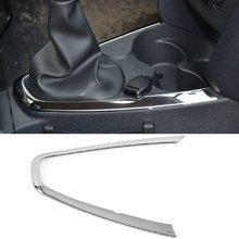 Gear manette de vitesse, console centrale en acier inoxydable, décoratif capots de bordure, pour Renault Dacia Logan II, Sandero 2
