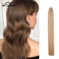 Leshine Tape in Hair Extensions Seamless 100% Real Human Hair Skin Weft Tape on Hair 14''18''20''