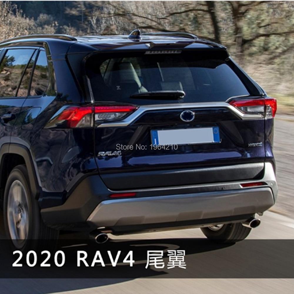 Car Accessories ABS Plastic Unpainted Color Rear Spoiler Trunk Boot Wing Lip Roof Spoiler For New Toyota RAV4 RAV 4 2019 2020