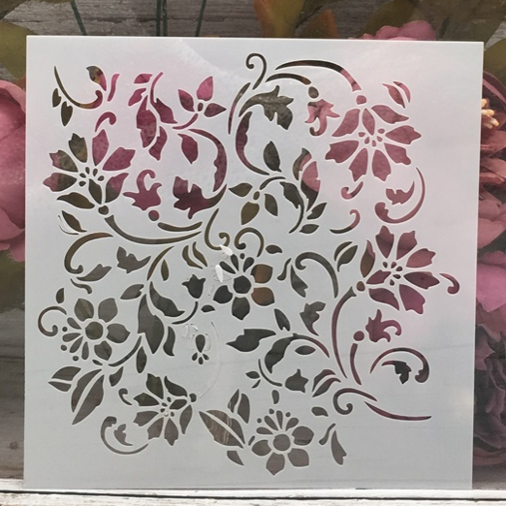 15*15cm Flowers Leaves DIY Layering Stencils Wall Painting Scrapbook Coloring Embossing Album Decorative Template