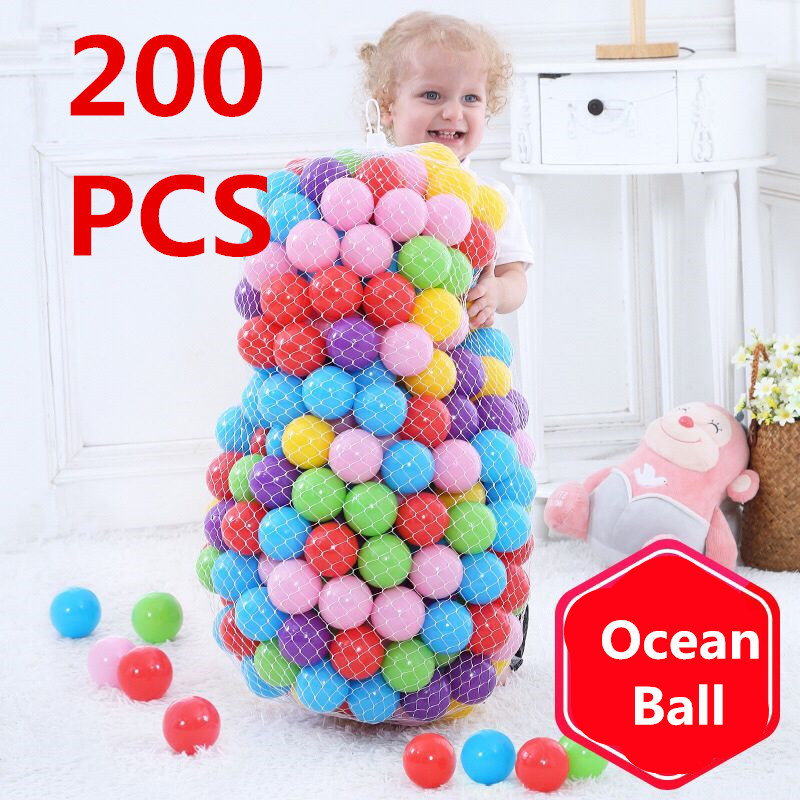 Baby Plastic Ball Pool Ocean Wave Ball Children's Swimming Pit Basketball Basket Game House Outdoor Tent Toy Colorful Macaron