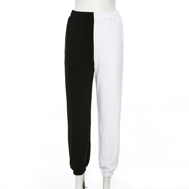 Simenual Casual Sporty Women Sweatpants Autumn Fashion 2019 Patchwork Trousers Workout High Waist Color Blocking Long Pants Slim 6