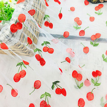 new 1yard New mesh embroidery fabric nylon tulle lace Small cherry flower diy dress skirt clothing