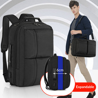 Tigernu 2019 New Expendable Large Capacity Backpack Men Anti theft 15.6 inch Laptop Backpack USB Charging Waterproof School Bags