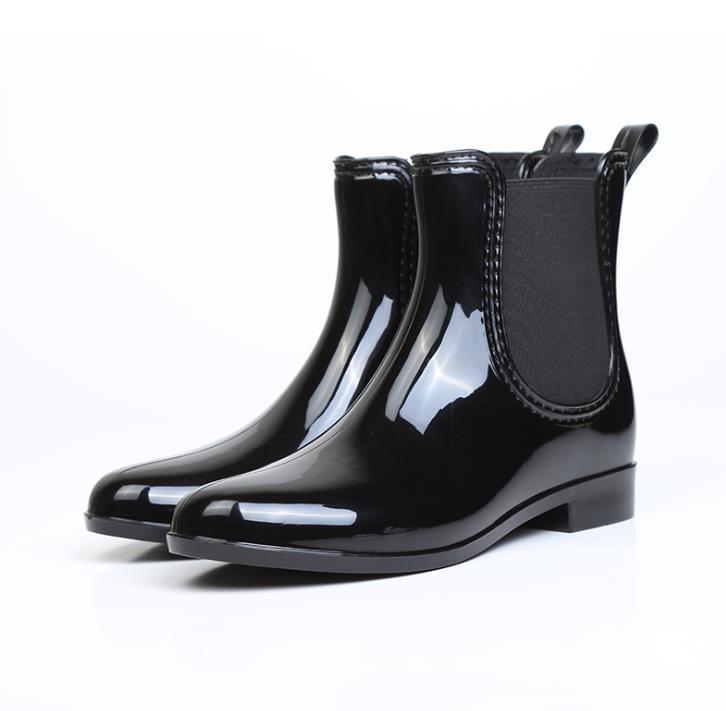 Clearance Rubber Shoes Women Rain Boots Chelsea Boots Waterproof Ankle Boots Girl Flat Platform Spring Booties Dames Laarzen 41