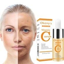 C vitamini Serum VC kaldırma karanlık nokta çil yaşlanmayan orijinal sıvı Serum cilt bakımı beyazlatma yüz Anti Winkles özü güzellik