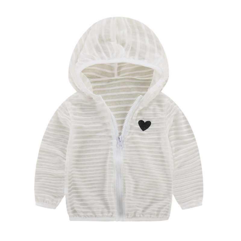 長袖ジャケットガールズボーイズ服コートストライプコート秋の子供のジャケットパーカー