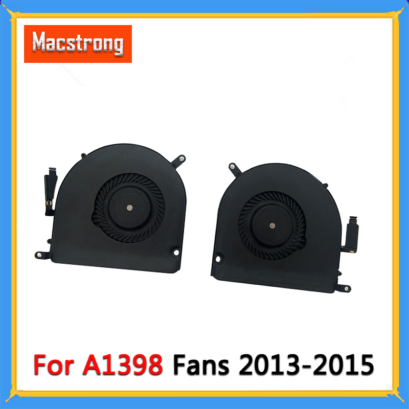 "Original A1398 CPU Cooling Fan for Macbook Pro Retina 15"" A1398 Fans Left+ Right Late 2013 Mid 2014 Early 2015 Year 610-0191-04"