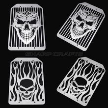 Motorcycle Accessories Steel Flame Skull Radiator Grill Cover Protector Water Tank Cooler