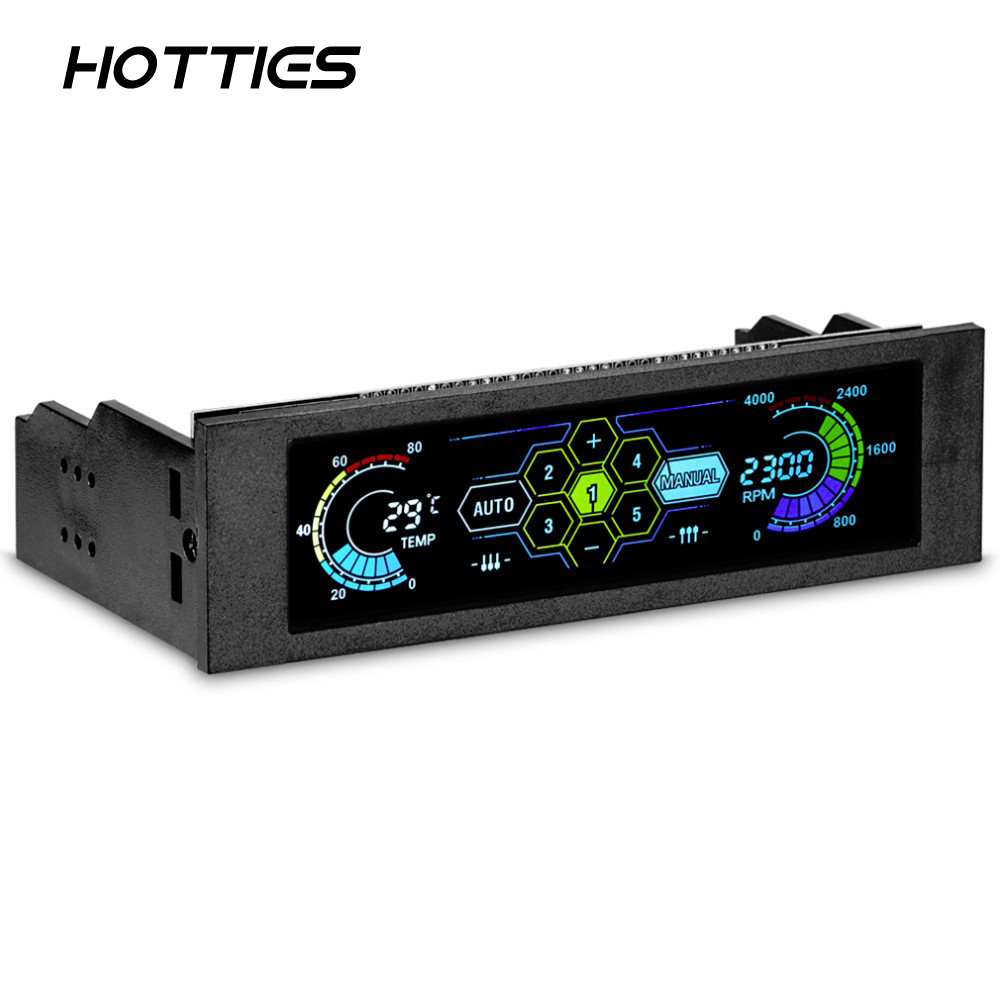 STW-5036 <font><b>5.25</b></font> inch Drive <font><b>Bay</b></font> <font><b>Fan</b></font> Speed Temperature Controller Support Alarm Function for Desktop Computer New Arrival image