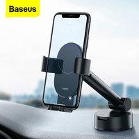 Baseus-Soporte de teléfono para coche Gravity, ventosa Flexible, soporte para teléfono móvil, Smartphone