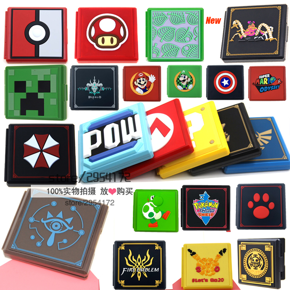 For NS Game Card Case Storage Box For Nintend Switch Game Memory SD Card Holder Carry Cartridge Box