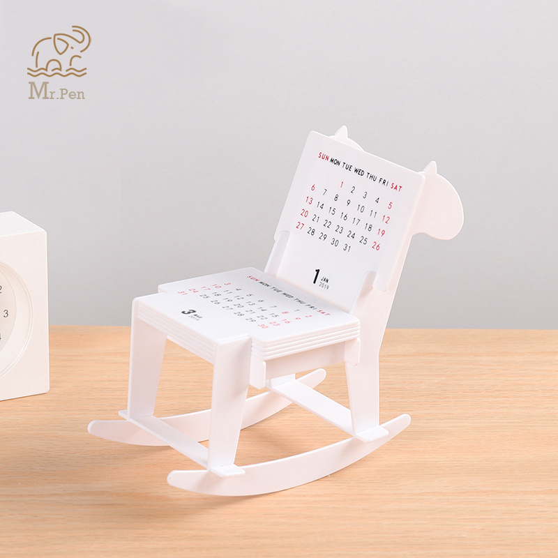 New 2020 Trojan Design Desk Calendar Crafts Funny Assembled Building Block Calendar DIY Desktop Decoration For Home Office