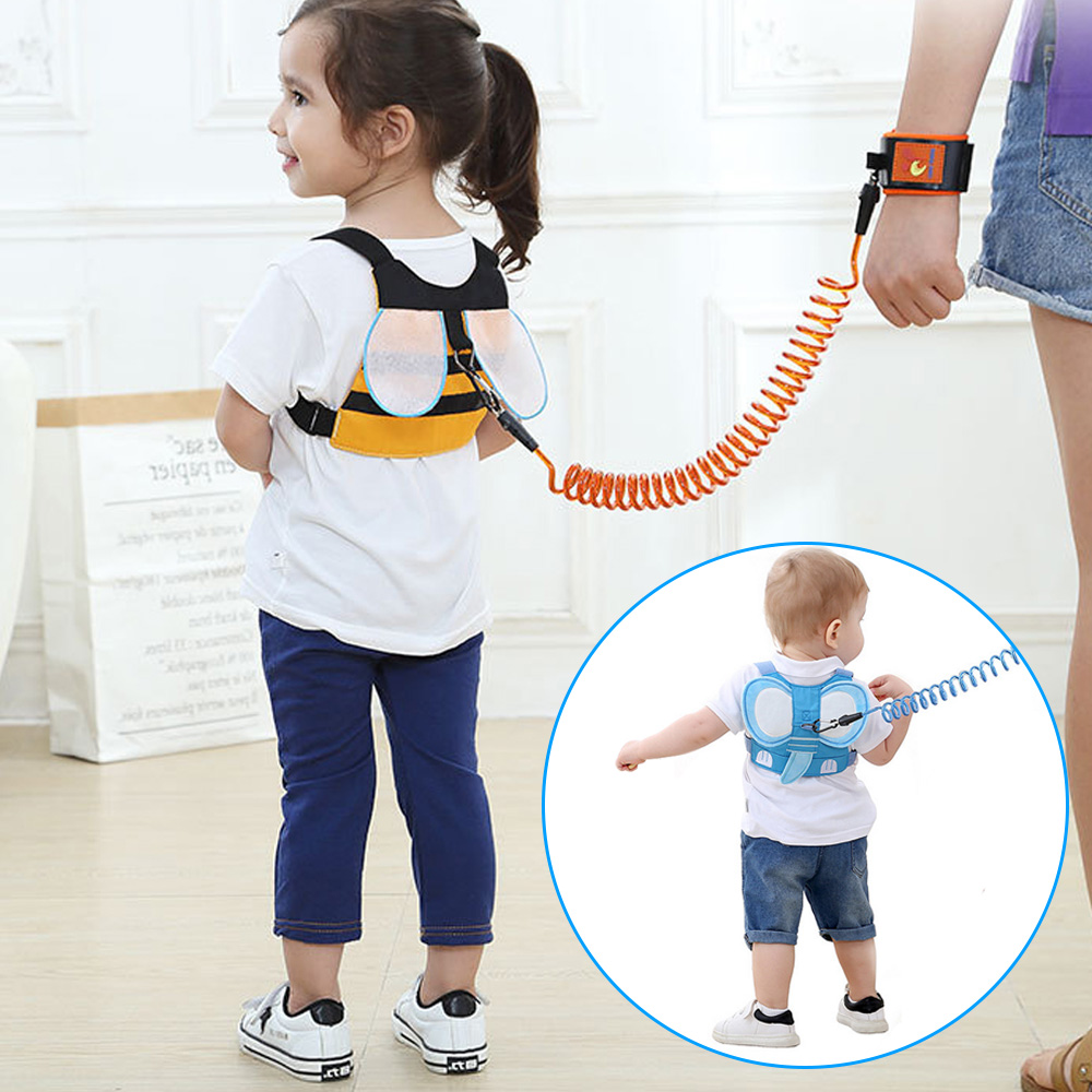 Cute Anti Lost Wrist Link 8ft Expandable Safety Toddler Walking Harness Leash Strap For 1-8 Years Old Children Kids