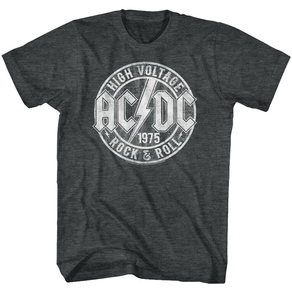 AC/DC High Voltage 1975 Rock & Roll Adult T Shirt Heavy Metal Music