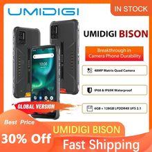 Umidigi Bison Smartphone 6Gb 128Gb Nfc IP68/IP69K Waterdichte Robuuste Telefoon 48MP Quad Camera 6.3