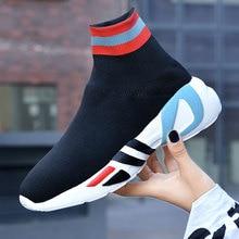 Sock Shoes Vulcanized-Sneakers Walking-Trainers Schoenen High-Top Outdoor Casual Woman