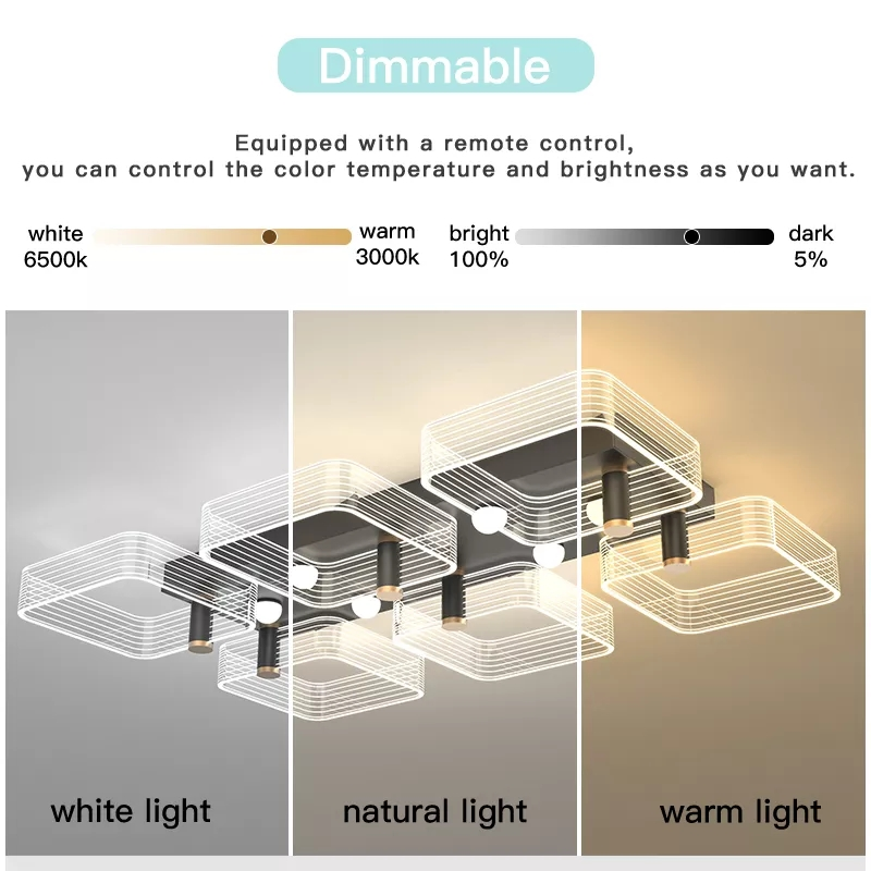 led luz de teto moderno lustre lampada 04